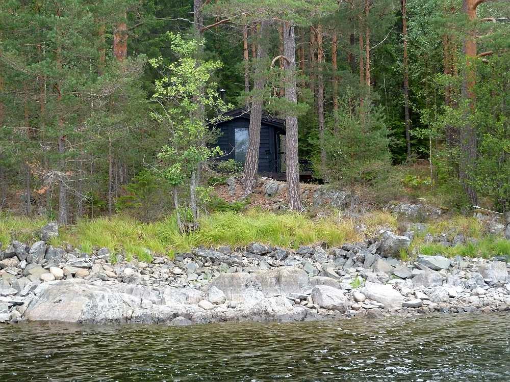 Ferienhütte Skauhytta - näher zum Wasser geht nicht mehr...