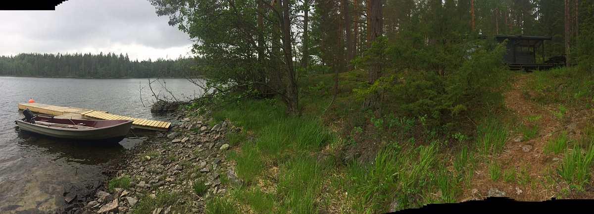 Ferienhütte Skauhytta direkt am Ufer des Sees Stora Le