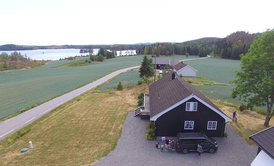 Ferienhaus Slevika am See Øymarksjøen