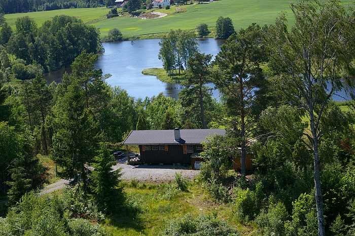 Ferienhaus Smiåsen und die Lage zum Wasser