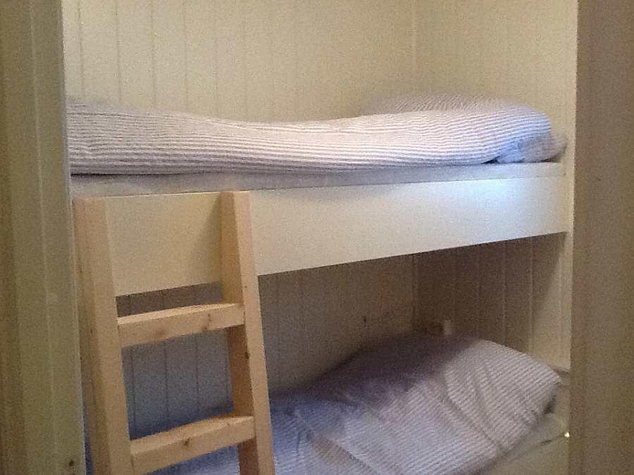 Das Schlafzimmer mit einem Etagenbett