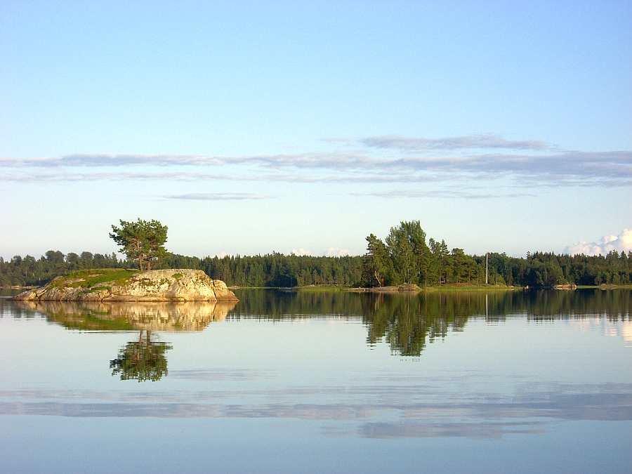 Der See Kornsjøen hat unzählige Inseln