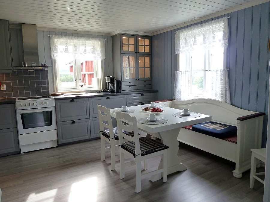 Die gemütliche Wohnküche des Hauses