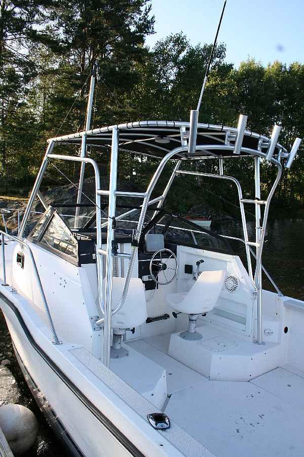 Das Boot Ihres Gastgebers Reidar - er ist Angelguide am Haldenvassdraget - Touren können mit ihm vereinbart werden