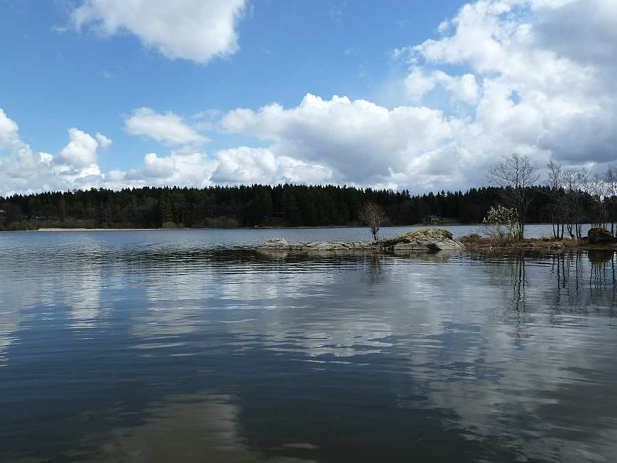 Flachwasserzonen im Rødenessjøen