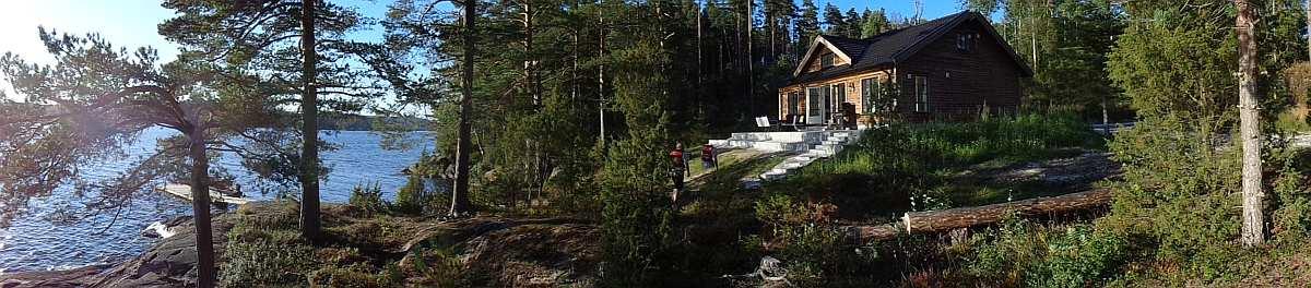 Ferienhaus Solspillet - absolute Alleinlage auf einem eigenen großen Naturgrundstück direkt am Seeufer