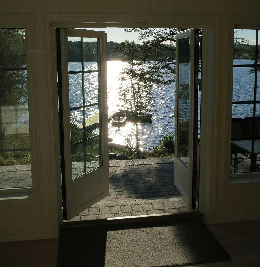 Blick aus dem Haus auf Ihr Angelboot...