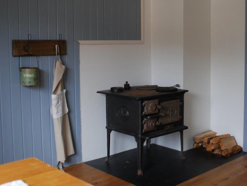 Holzofen in der Küche