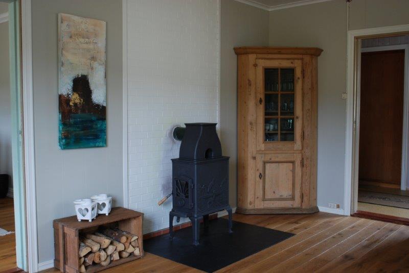 Wohnbereich mit Holzofen