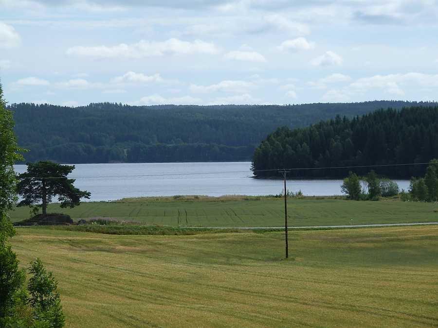 Blick auf die Bucht Folkenborgvika