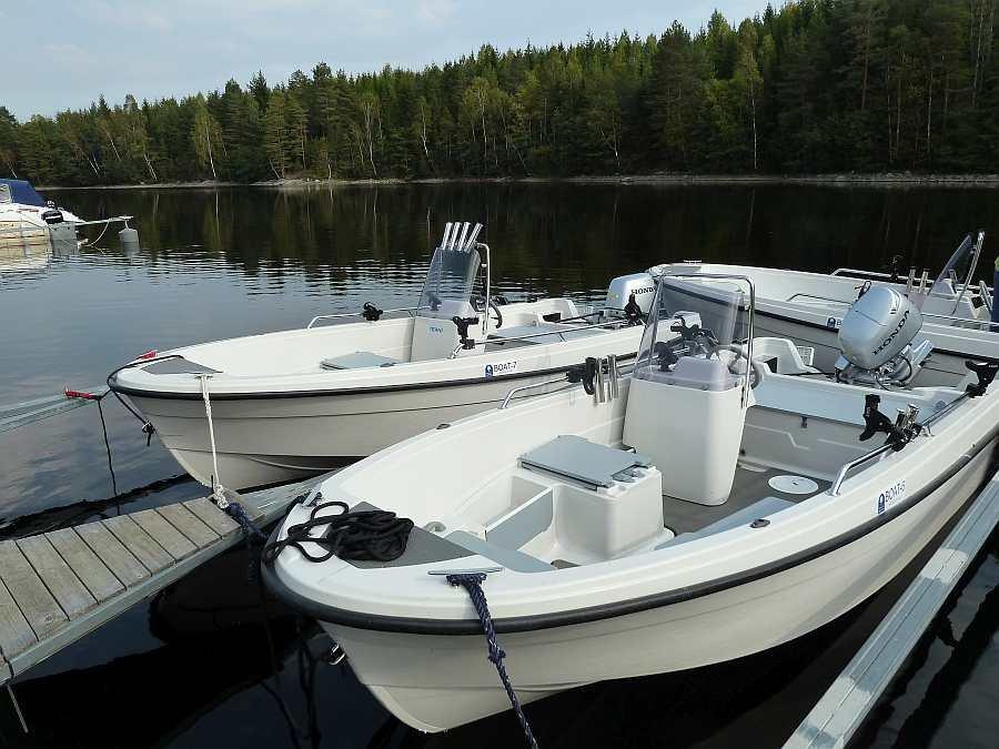 Bereits im Preis enthalten: 1x Angelboot Theri 15 Fuß/30 PS-4-Takter, Echolot, 4x Schlepp-Rutenhalter - weitere zusätzliche Theri Boote können noch dazu gebucht werden!