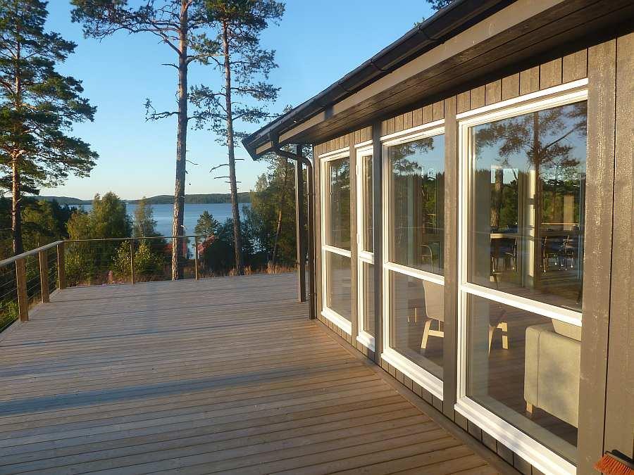 Vom Haus aus hat man einen fantastischen Blick über den See