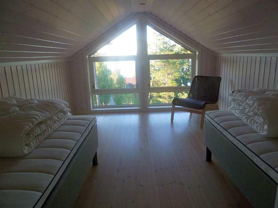 Eines der Schlafzimmer im Obergeschoß