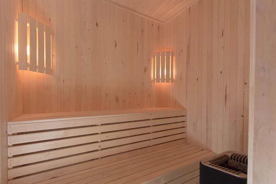 Die elektrische Sauna des Ferienhauses