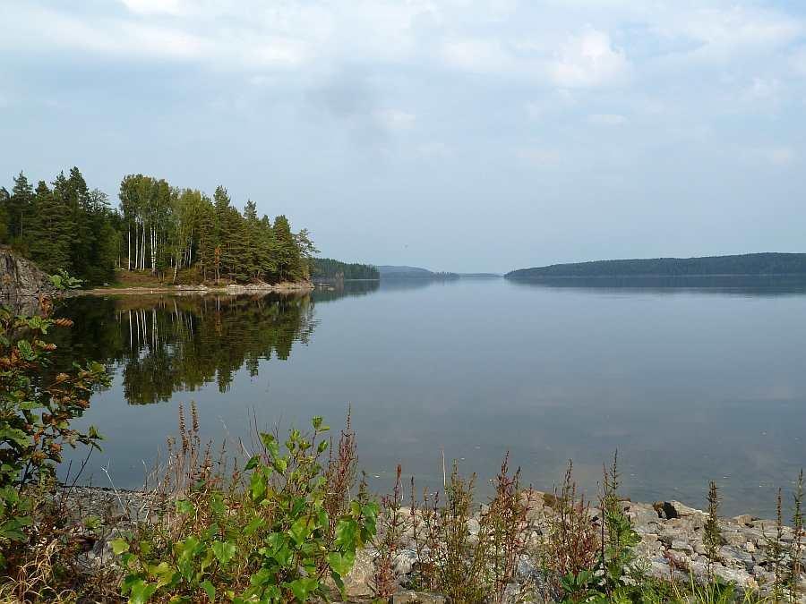 Blick auf den See Stora Lee vor dem Ferienhaus