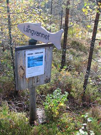 Schilder helfen die Seen zu finden...