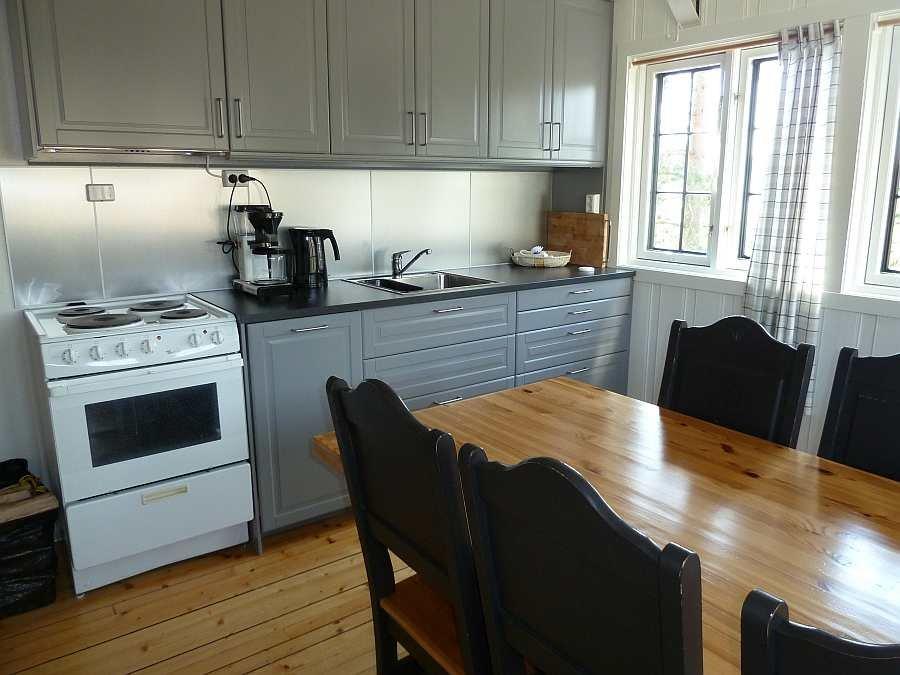 Die Küche ist komplett ausgestattet