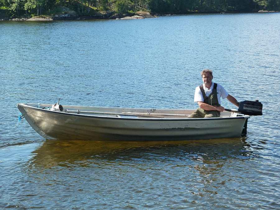 Das perfekte Zusatzboot - Alu Angelboot Viking 14 Fuß/ 8 PS, Zweitakter