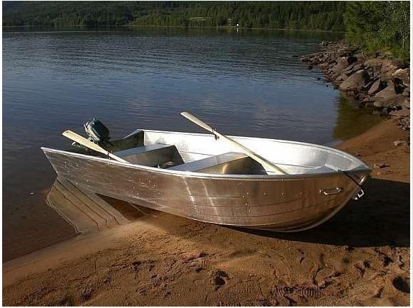 Bereits im Hauspreis enthalten - Alu Angelboot Viking 14 Fuß/ 8 PS, Viertakter