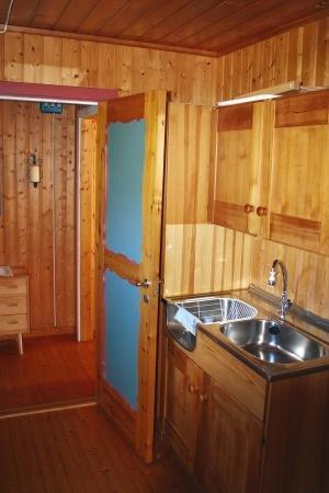 Küchenbereich - komplett ausgestattet.