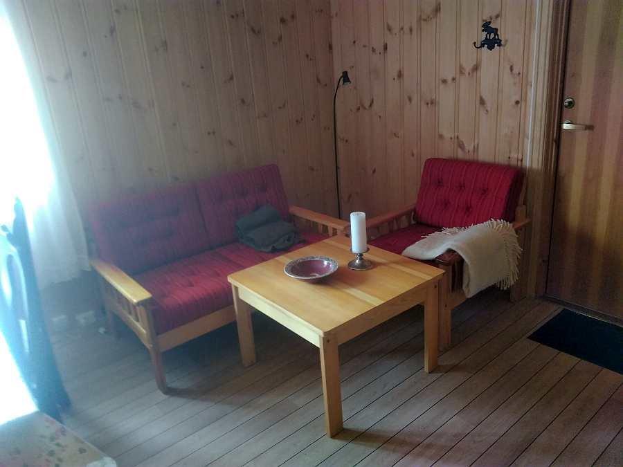 Die Sitzecke im Ferienhaus