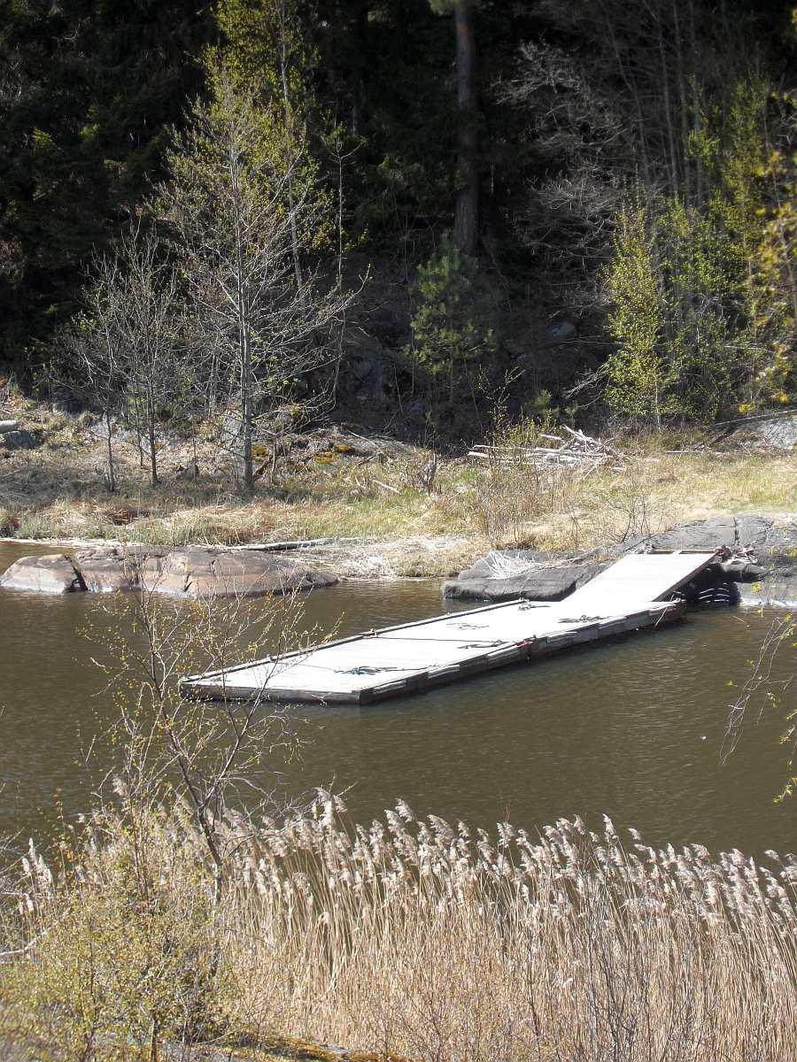 Der eigene Bootssteg direkt vor dem Haus