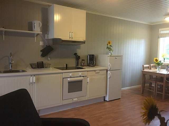 Küchenbereich in der Ferienwohnung Abborn