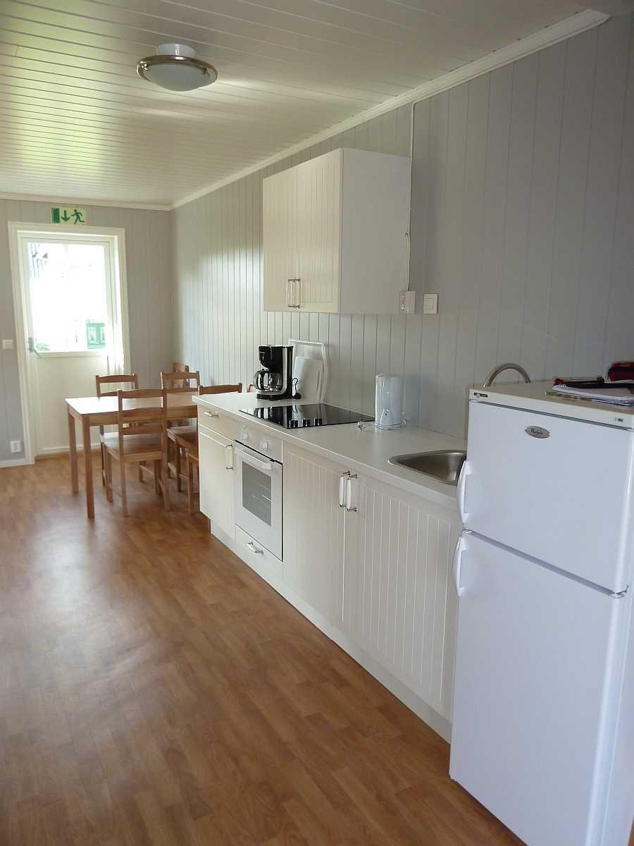 Der Küchenbereich der Ferienwohnung Gjørsen (Wohnung auf Anfrage zusätzlich buchbar)