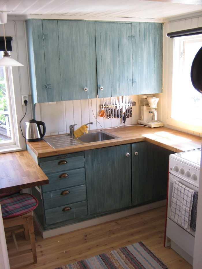 Die Küche vom Ferienhaus Tangen Typ 1 - voll ausgestattet