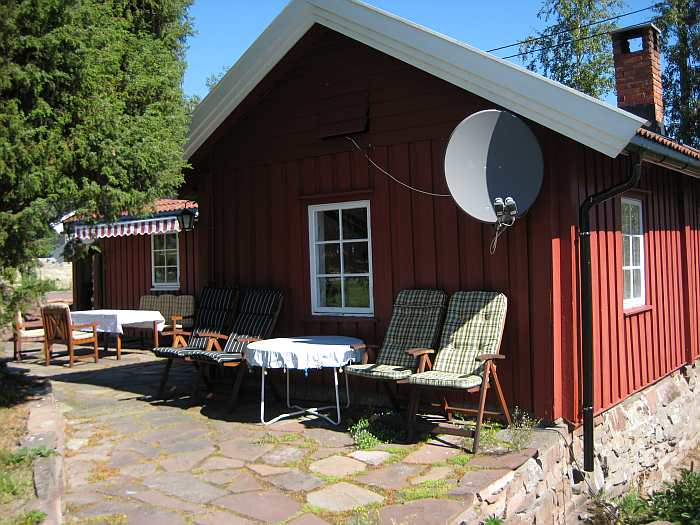Ferienhaus Tangen Typ 1 verfügt über zwei separate Terrassenbereiche mit Sitzgruppen