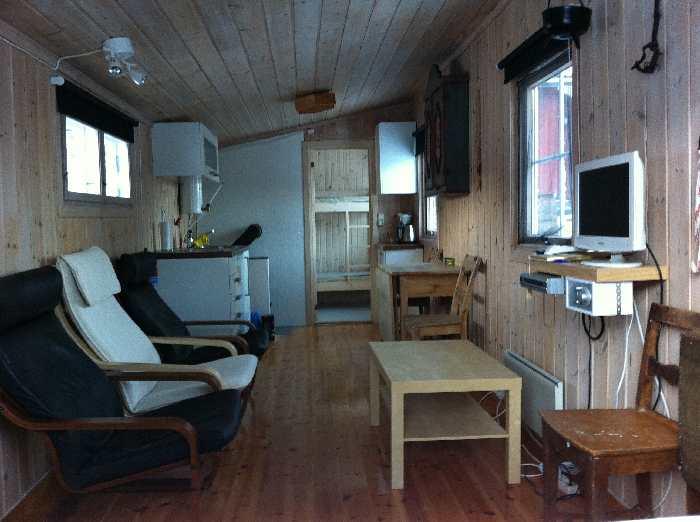 Blick in den Wohn- und Küchenbereich vom Ferienhaus Typ 2
