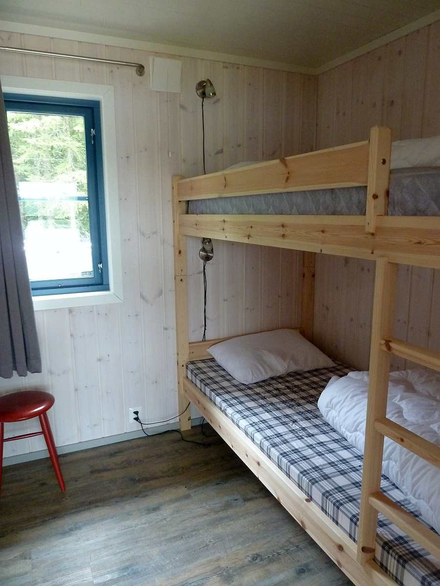 Eines der zwei Schlafzimmer mit jeweils einem Etagenbett