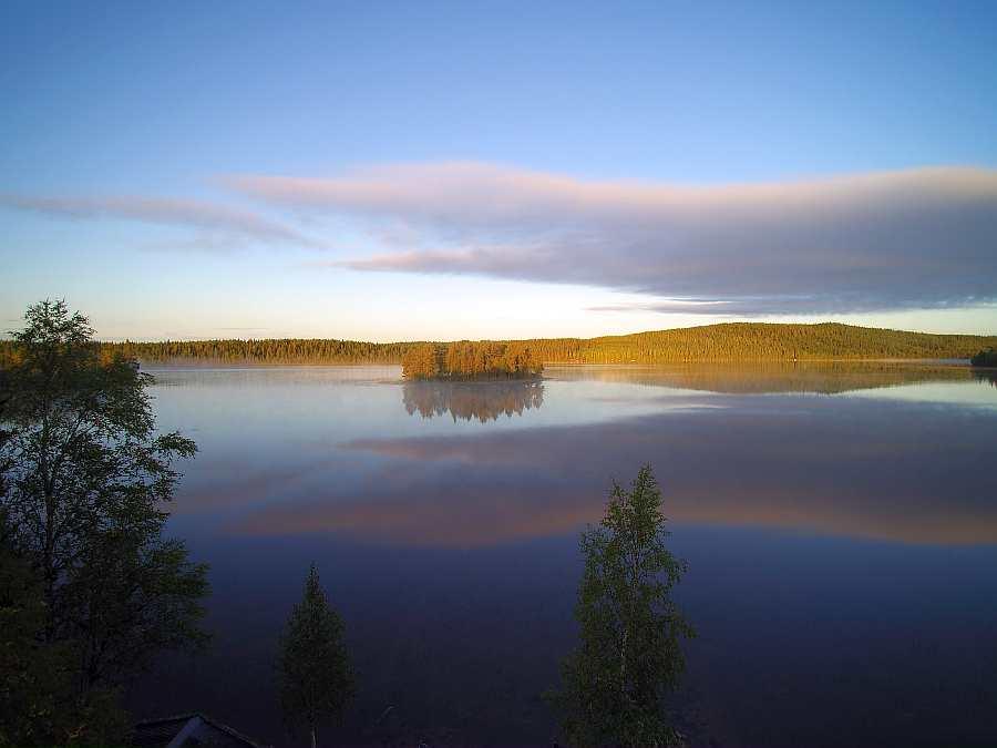 Morgendstimmung auf dem See direkt vorm Haus