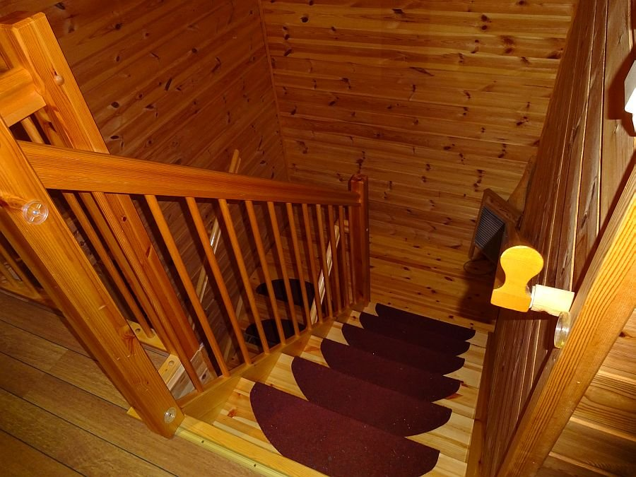 Treppe zur oberen Etage und den Schlafzimmern