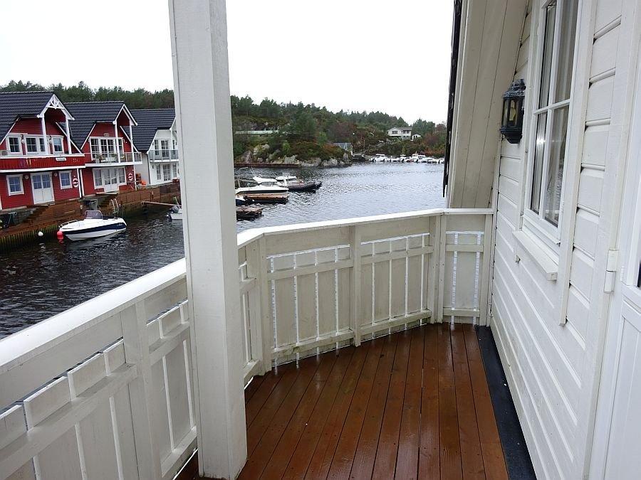 Der Blick vom Balkon.