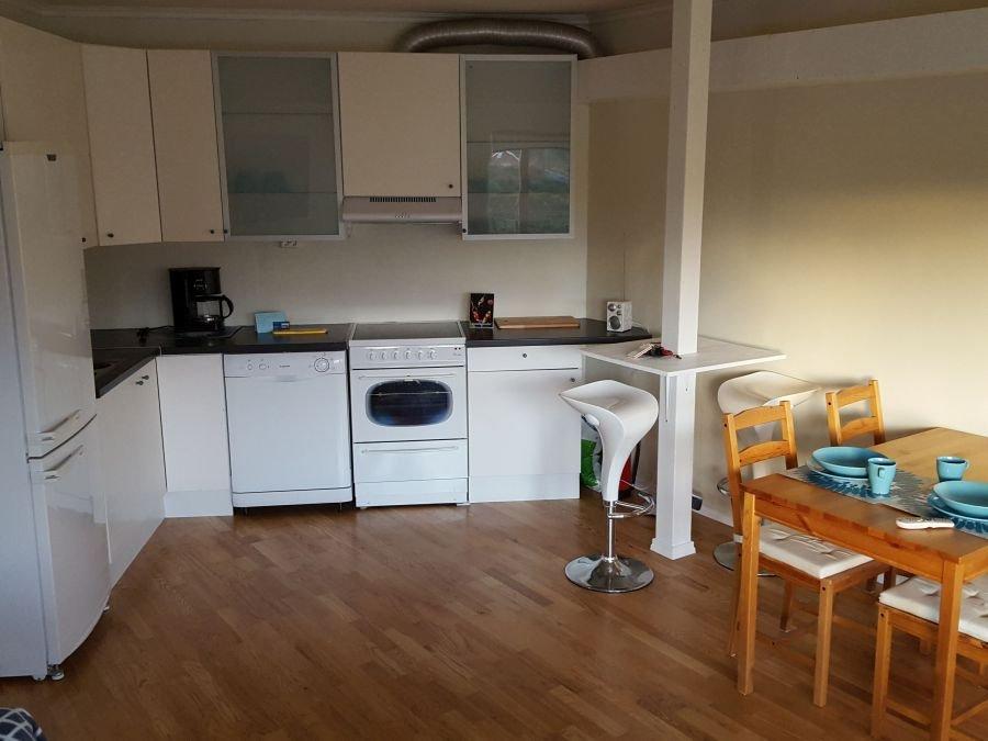 Küche der kleineren Wohnung unter dem Haus (Typ Wohnung)