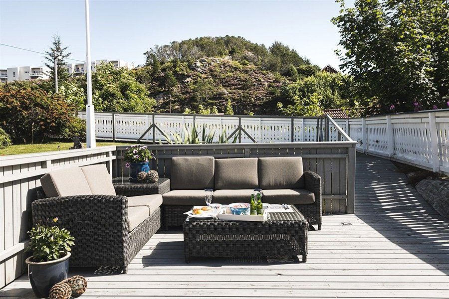 Die gemütliche Terrasse