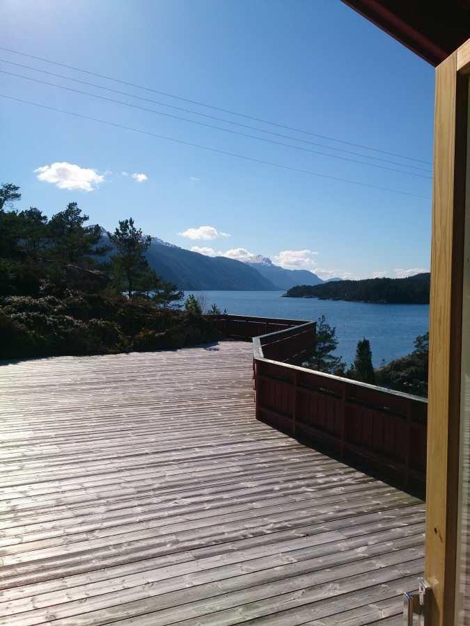 Bester Fjordblick von der Terrasse