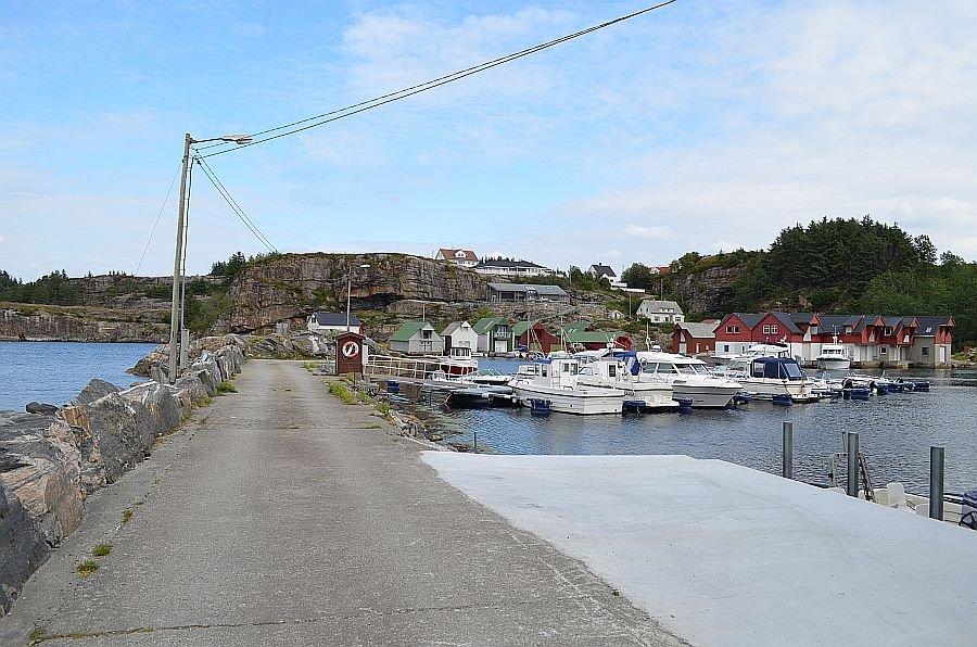 Blick auf den Hafen.