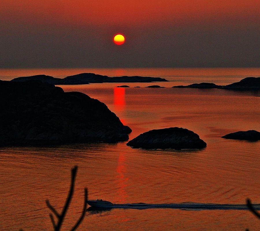 Sonnenuntergang in Tofterøy