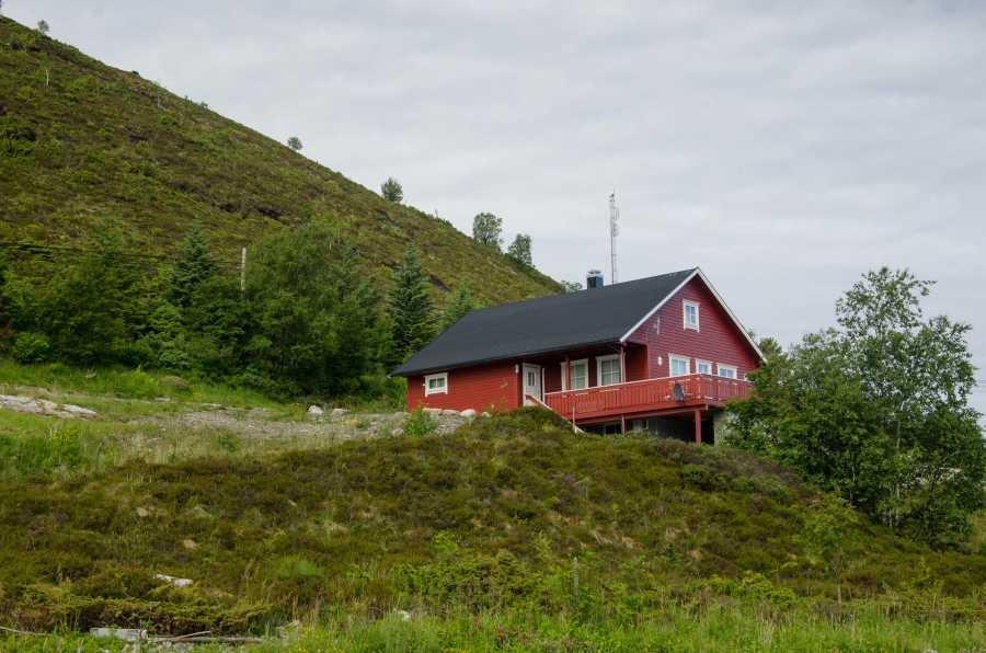 Haus Nordfjord von Außen.