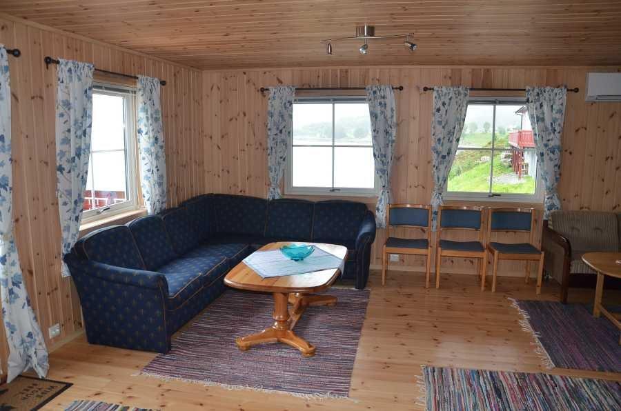 Das Wohnzimmer des Hauses B (Nordfjord)...