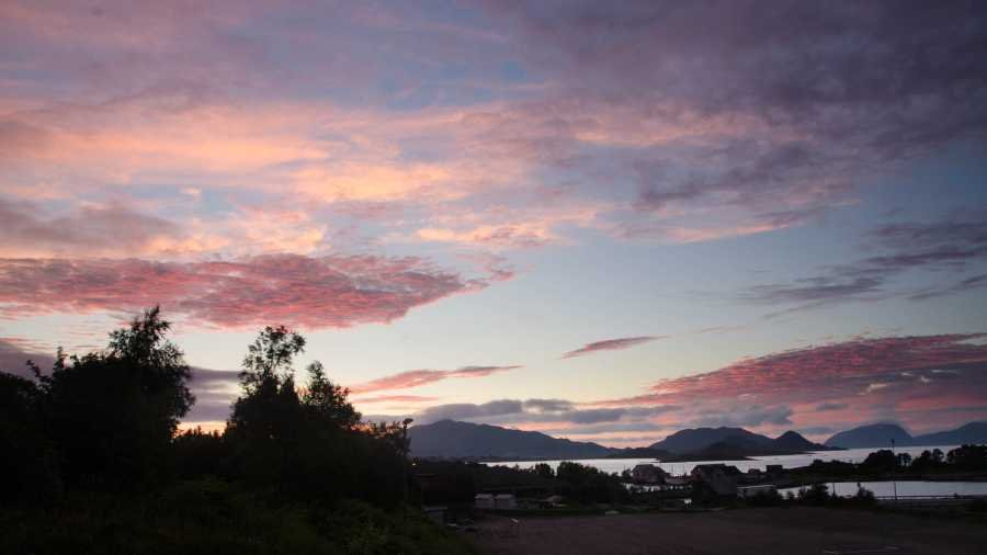 Abendstimmung am Fjordausgang.