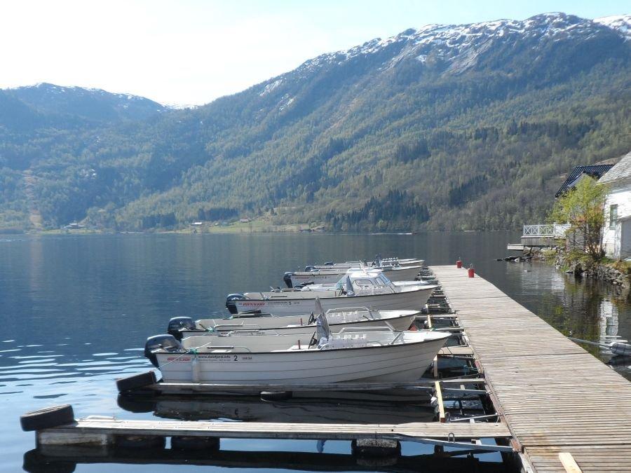 Der Bootssteg des Dalsfjord Fiskecamps!