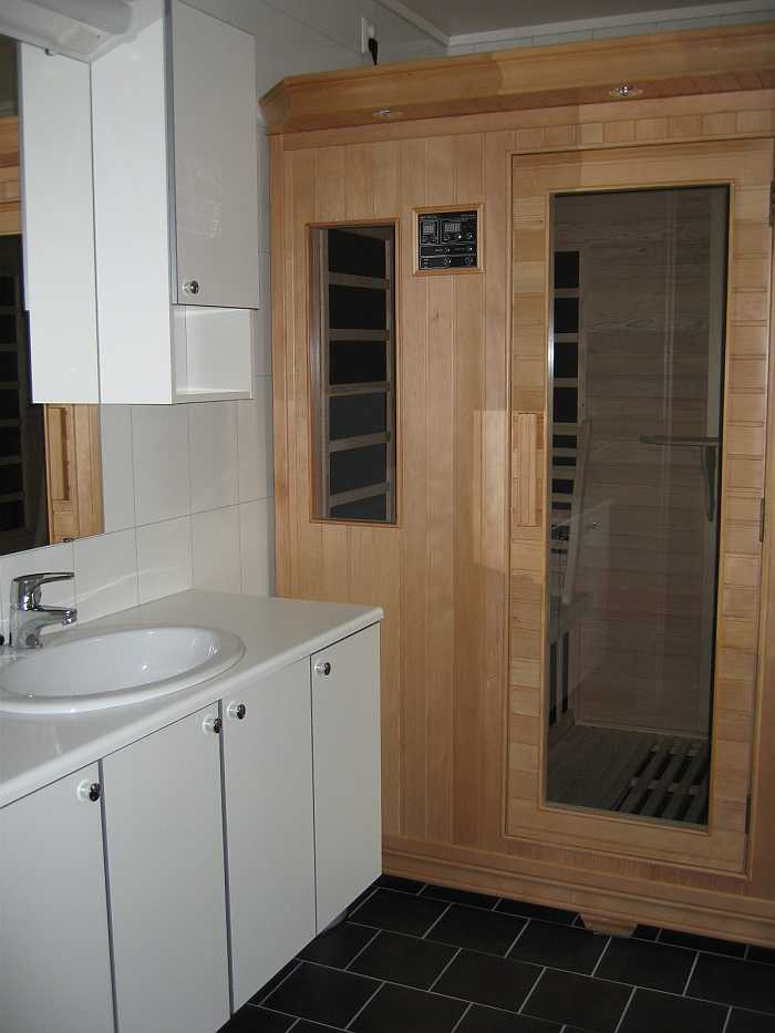 Eigene Sauna im Bad