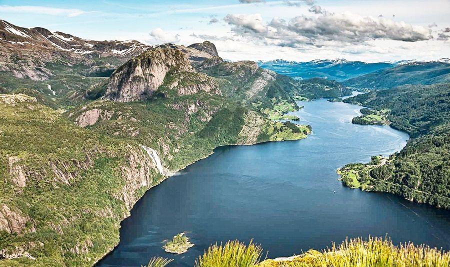 Der Dalsfjord von oben
