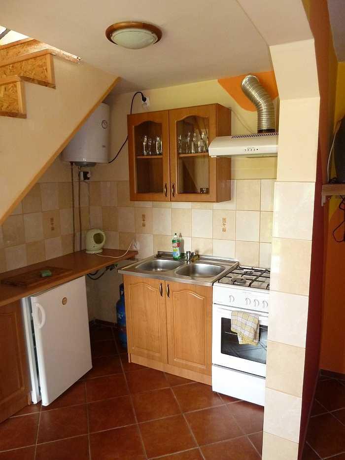 Die Küche im Apartment Hecht