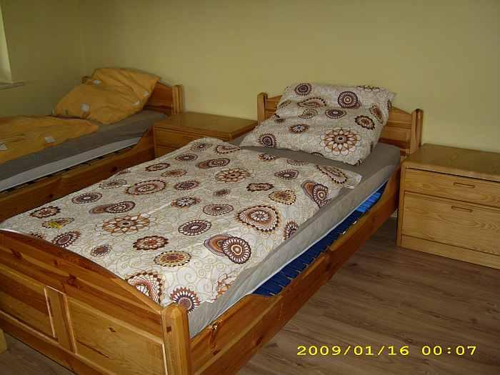 Apartment Wels - ein Schlafzimmer mit Einzelbetten
