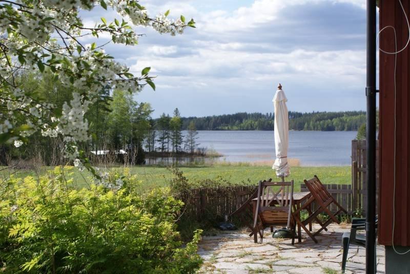 Blick auf den See Lelång
