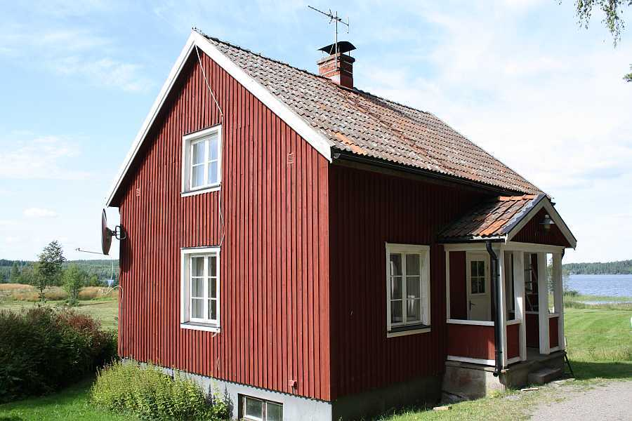 Ferienhaus Näset am See Lelång in Südschweden.